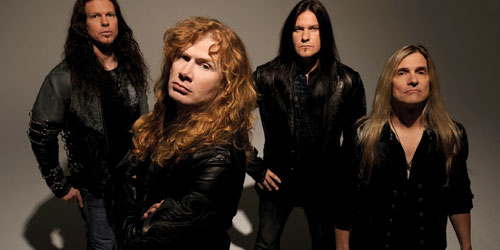 Stern With Megadeth Bandmates Michael Corbin, Mark Alteri and Phillip Riesling