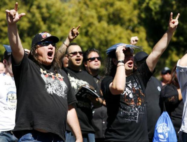 heavy metal protests