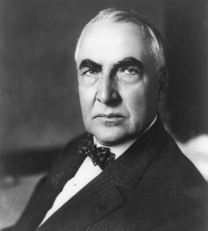 Harding, who will only allow himself to be photographed in black and white, celebrating his 12th term as President