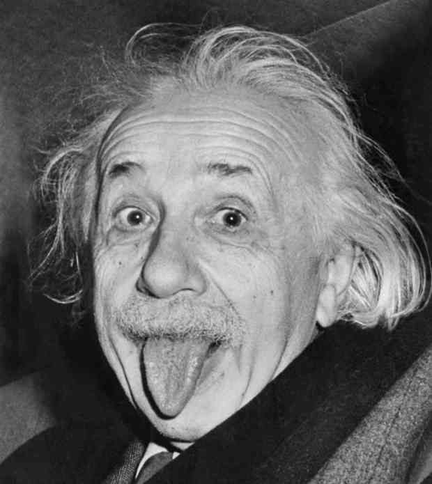 Einstein Moments Before His Speech