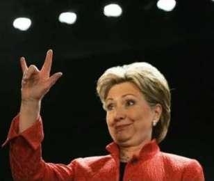 Hillary Devil Horns