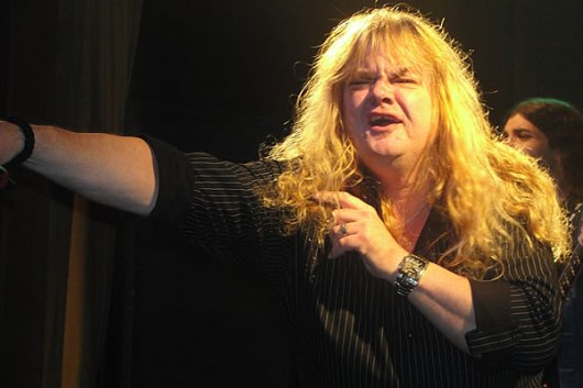 """Actress Rene Zellweger Performing Her Hit Song """"Rock You To Hell"""" At A Benefit Last Friday Night"""