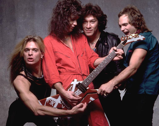 Eddie Van Halen, David Lee Roth, What's-His-Name and The Other Guy